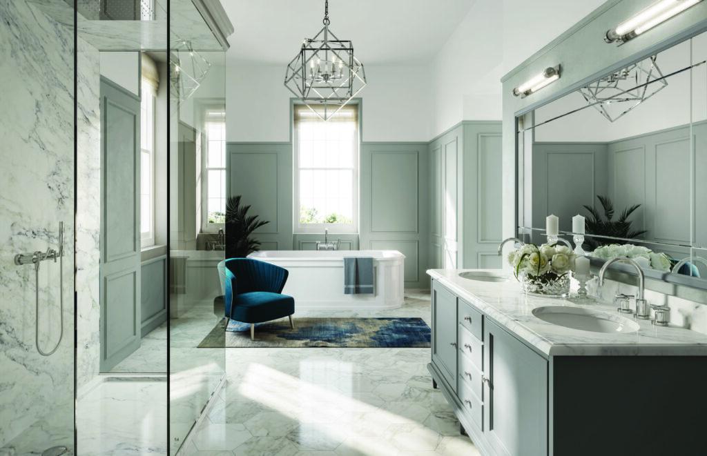 bagno progettato secondo i criteri dell'ecosostenibilità