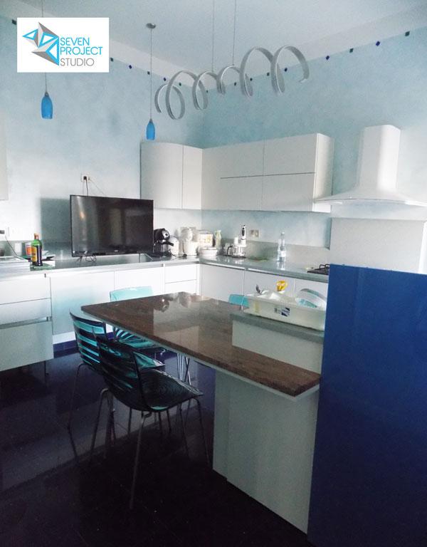progetto cucina su misura del seven project studio dell'architetto nicola vignapiano