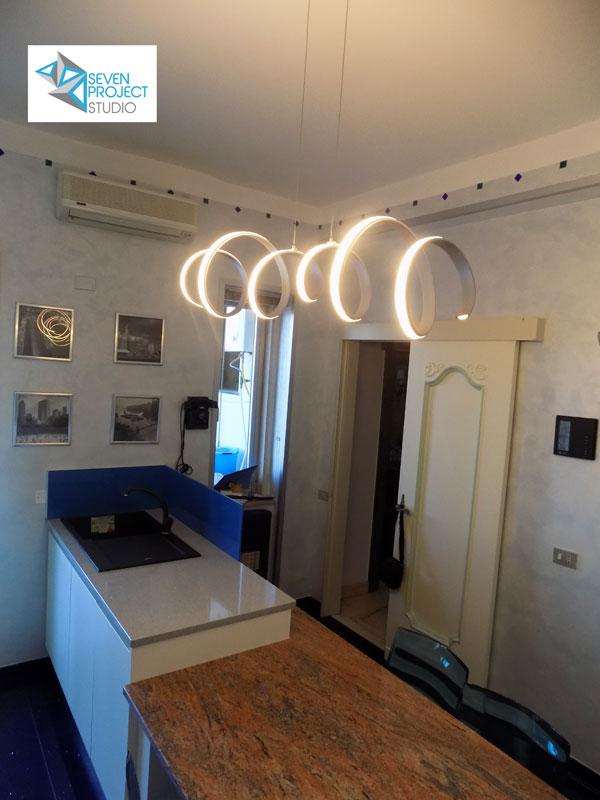 Lampadario per cucina dal design a spirale-seven project studio