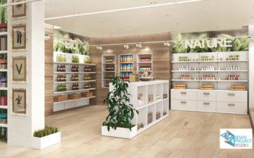 progetto per negozio alimentare bio