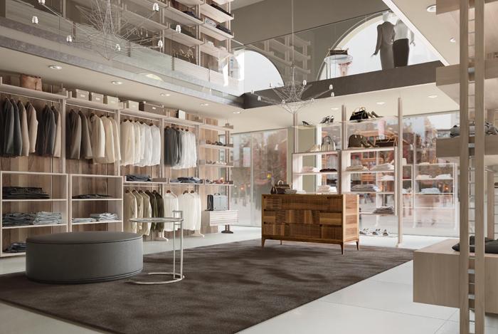 contract seven project studio-negozio di abbigliamento
