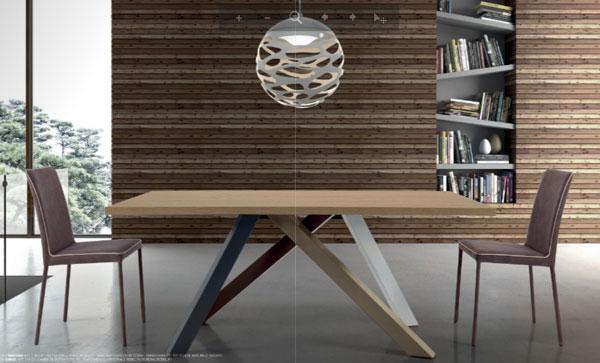 Tavolo da cucina rettangolare in legno policromo seven project studio